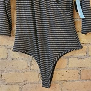 Envision Studio Tops - Envision Studio Striped Bodysuit